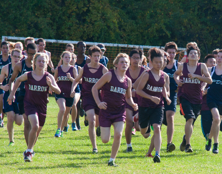 Photo of students running